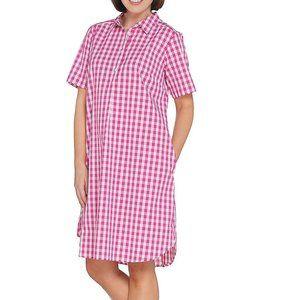 S Joan Rivers Black White Gingham Dress Short